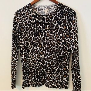 Jcrew Cheetah Pullover Sweater Size XS